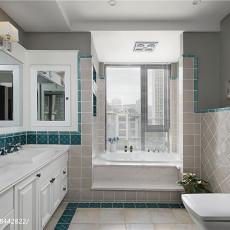 华丽644平美式别墅卫生间效果图欣赏