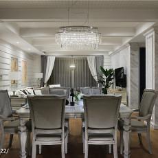 华丽995平美式别墅餐厅装饰美图