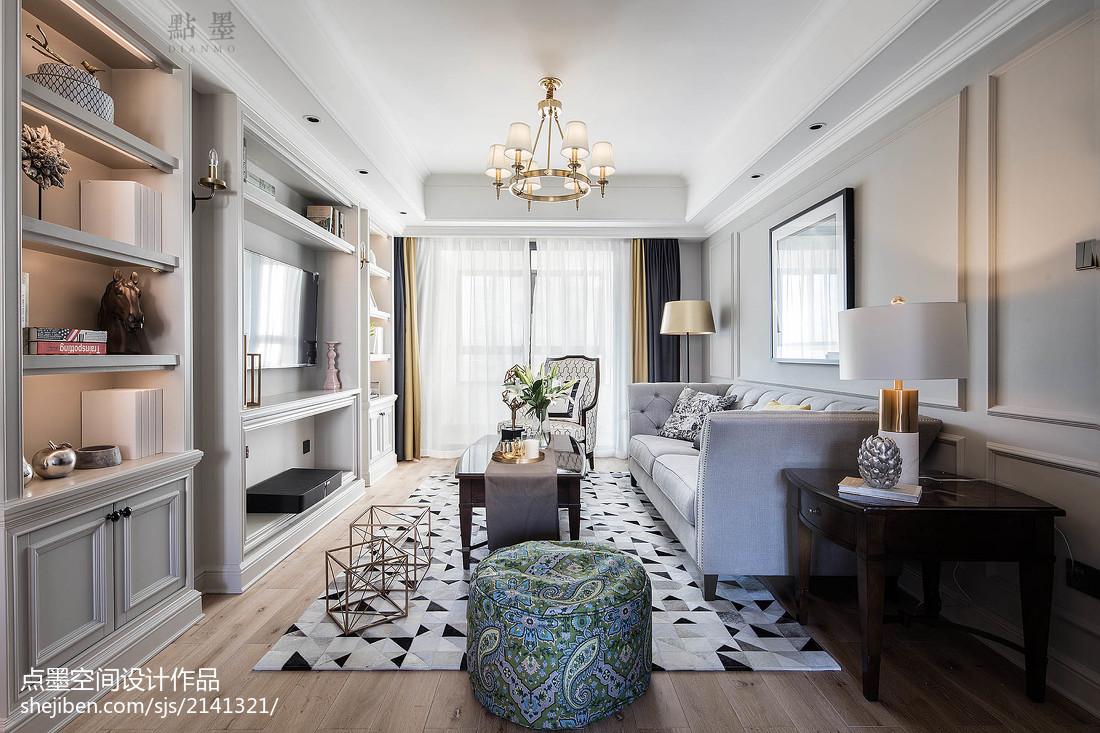 轻奢美式客厅设计图片