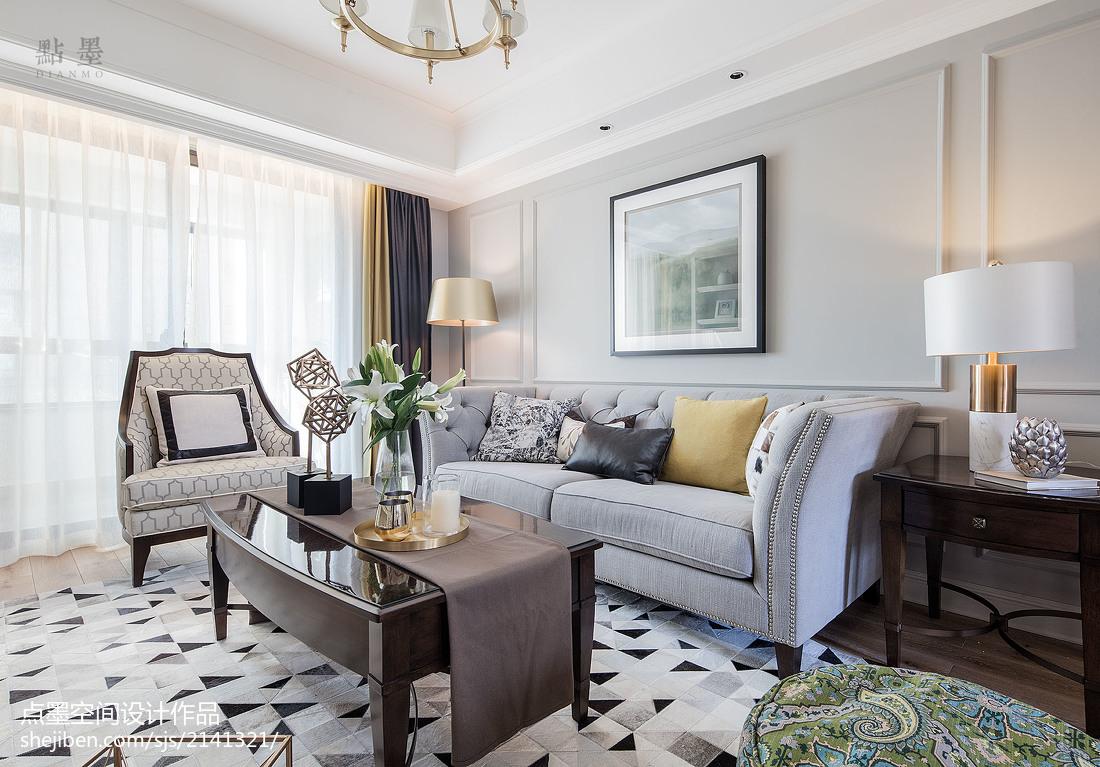 201896平方三居客厅美式效果图片