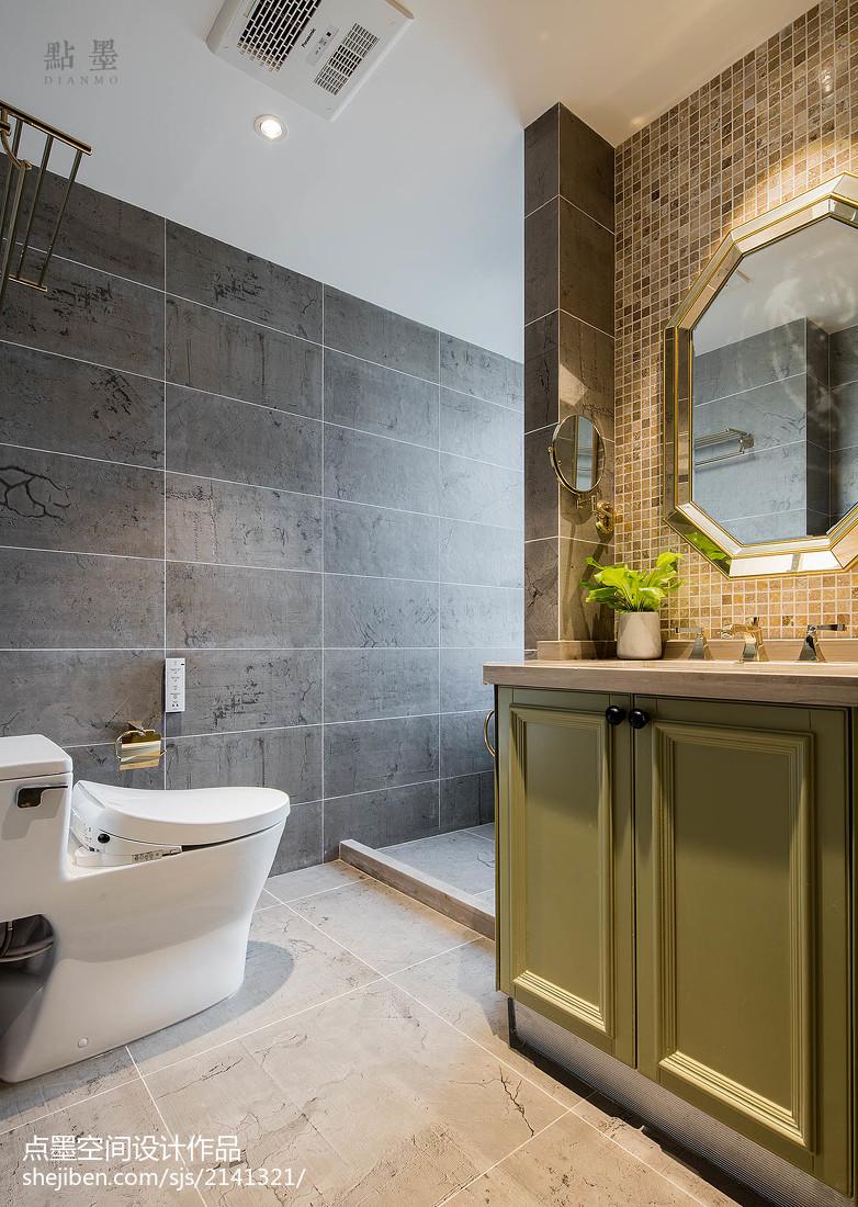 三居卫生间美式装修效果图片欣赏