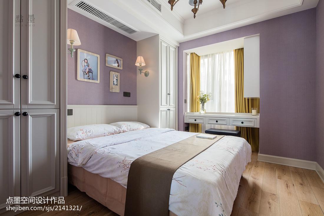 热门92平方三居卧室美式效果图片欣赏