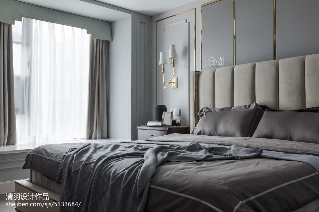 2018133平米四居卧室美式效果图片大全