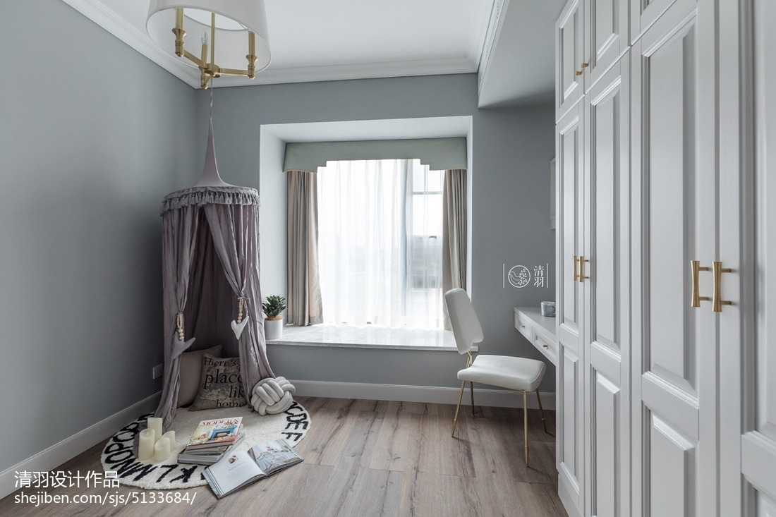 2018精选面积121平美式四居休闲区装修效果图片大全