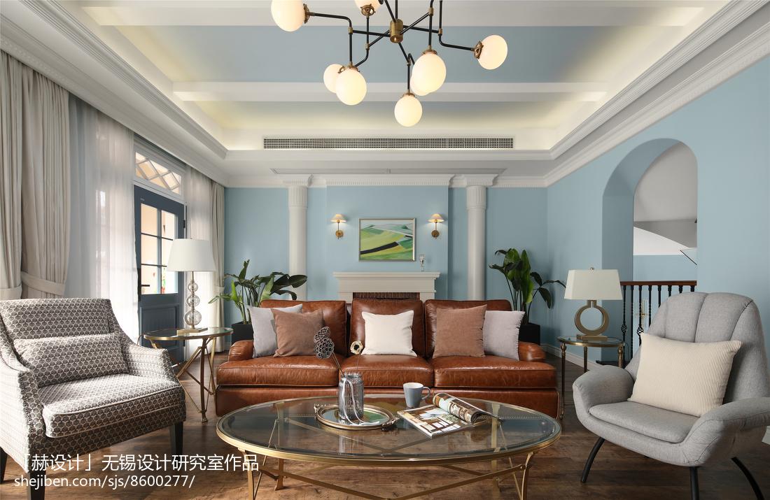 精美大小143平别墅客厅美式装修效果图片欣赏