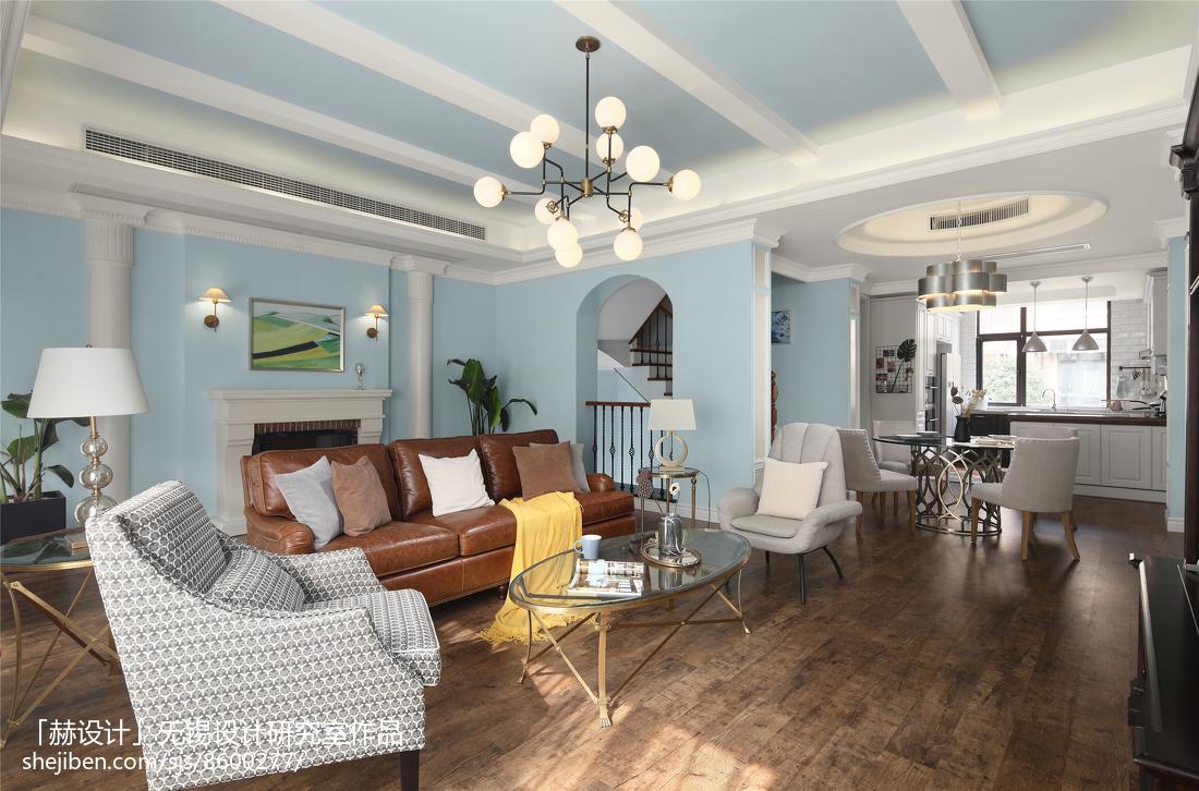 精选美式别墅客厅装修设计效果图片大全