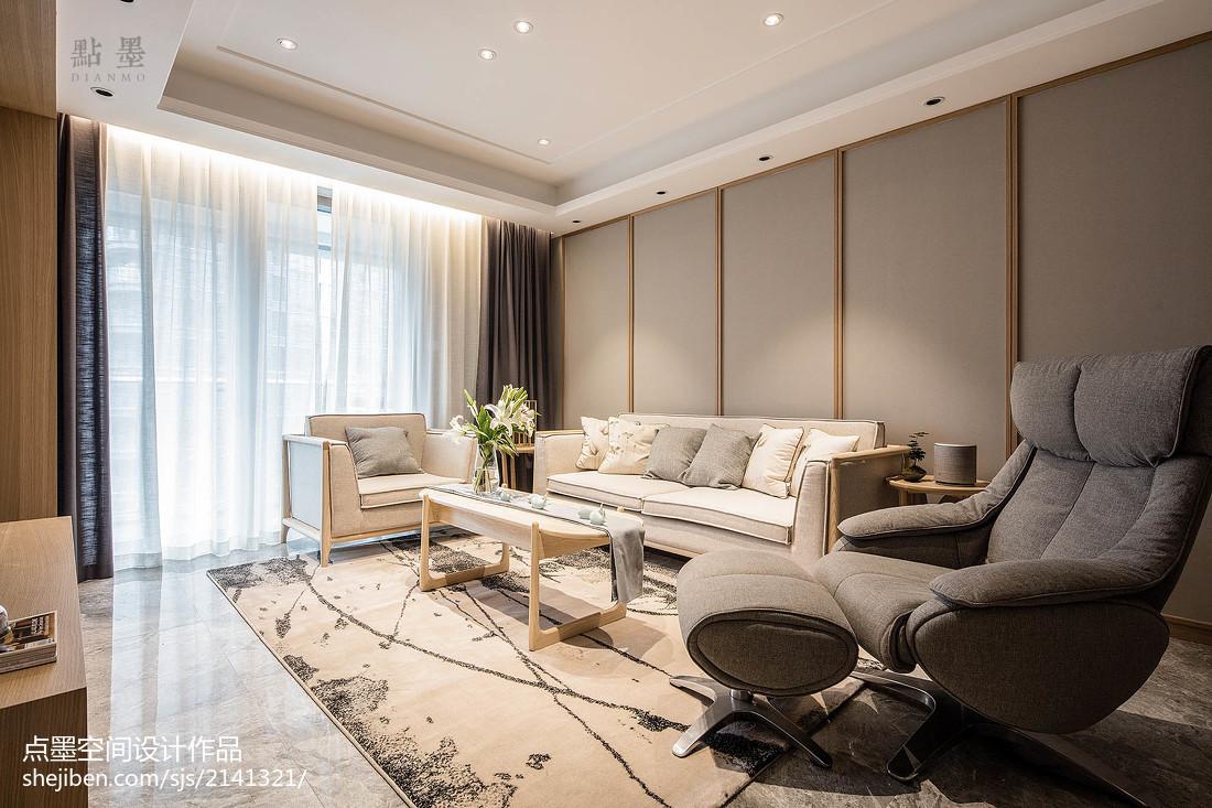 精美面积101平中式三居客厅装修设计效果图