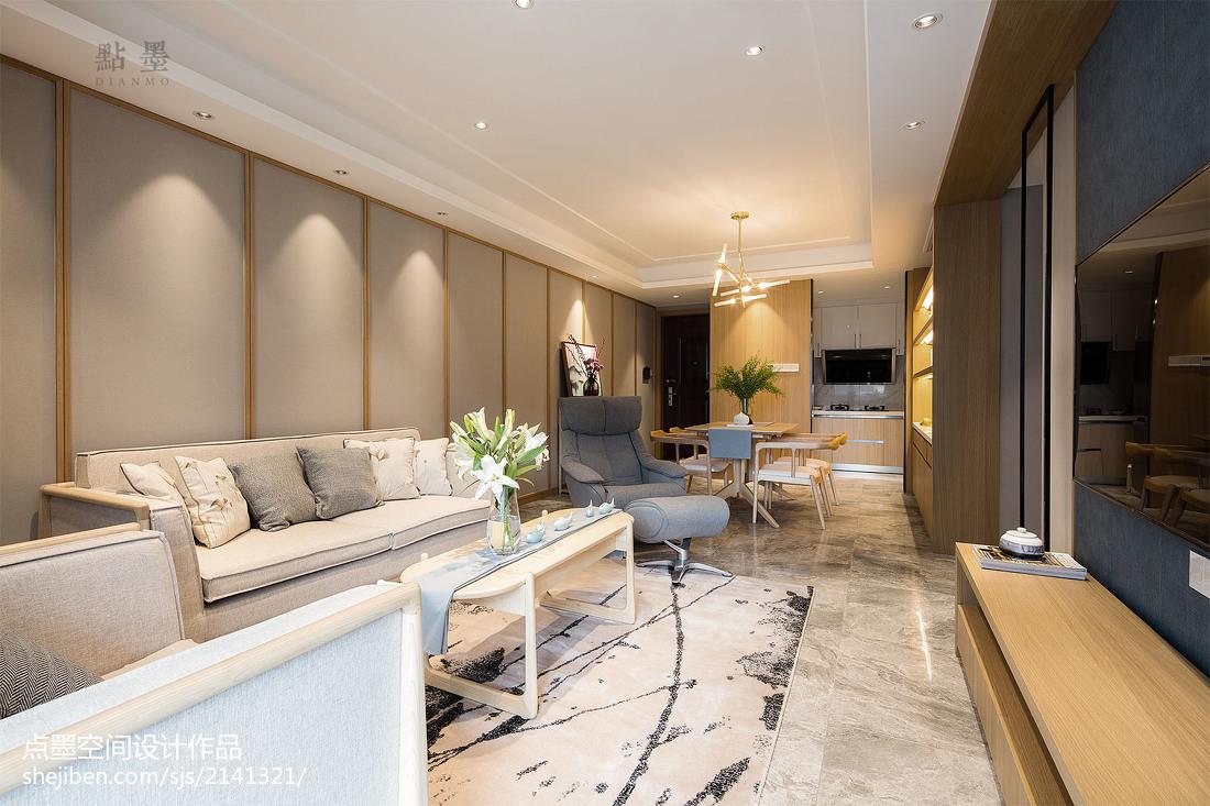 2018精选104平米三居客厅中式实景图片大全