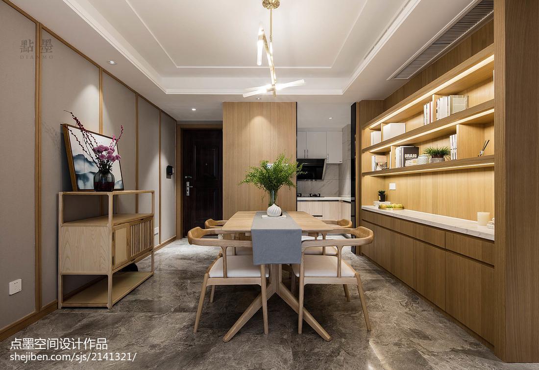 2018面积108平中式三居餐厅装饰图