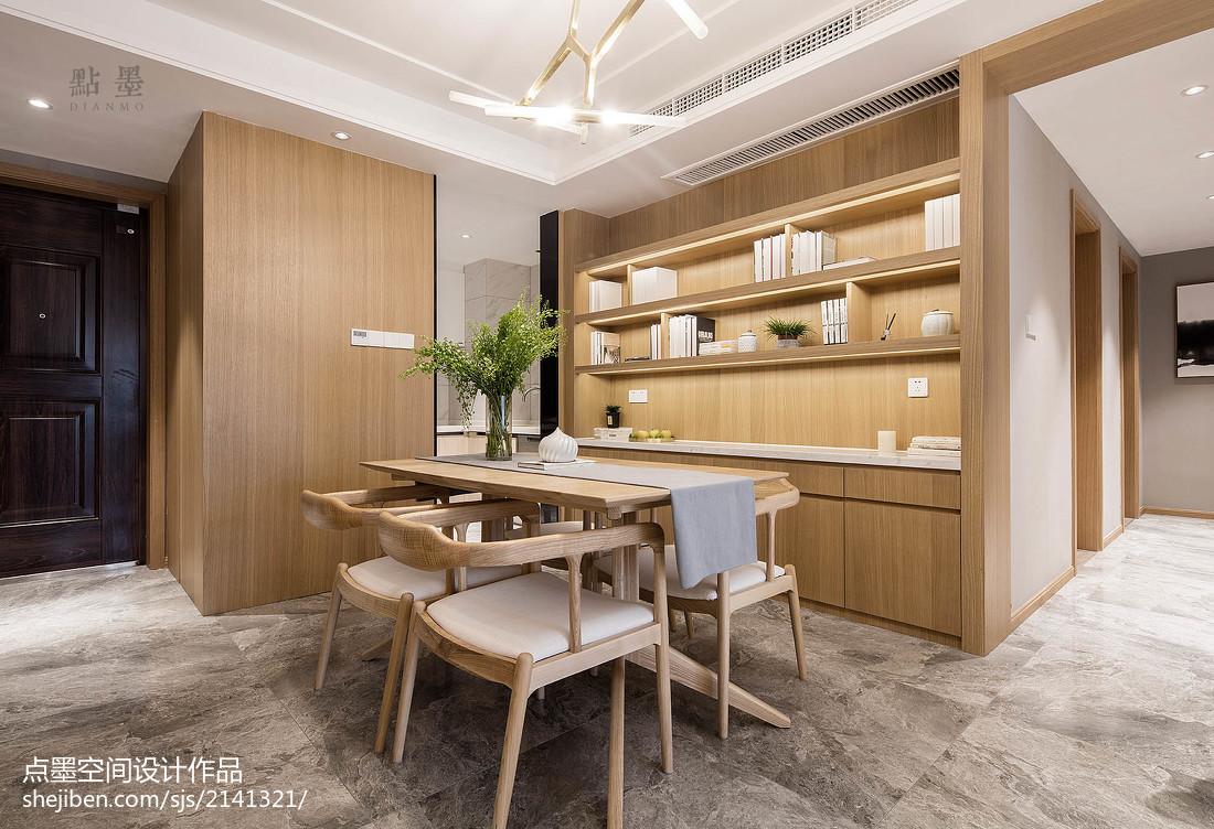 2018面积105平中式三居餐厅欣赏图片