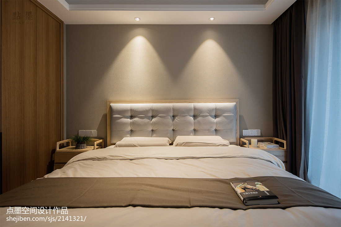 精选大小95平中式三居卧室装修实景图片