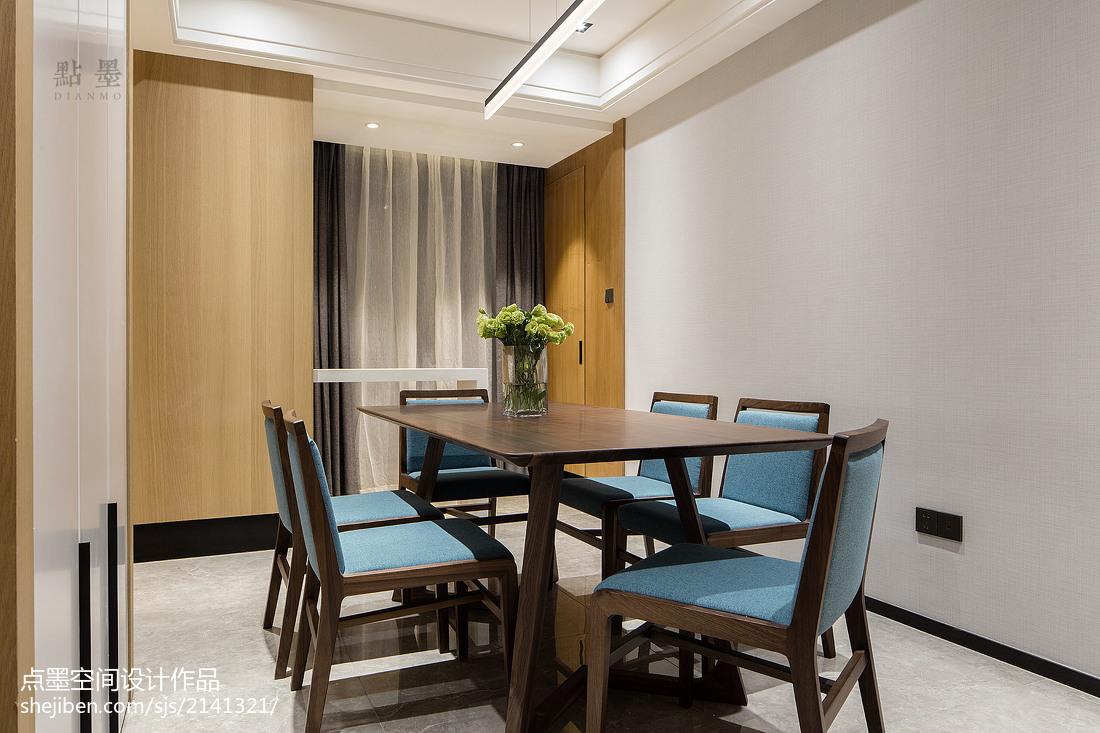 面积94平现代三居餐厅设计效果图