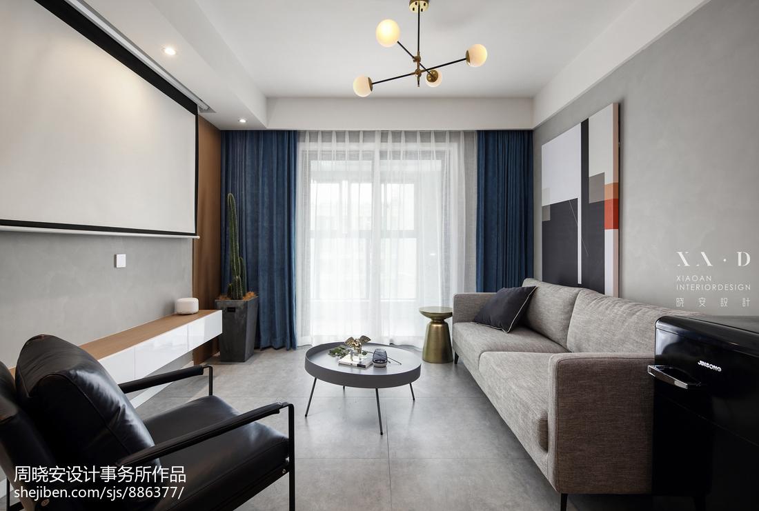 精选面积85平混搭二居客厅装修设计效果图片大全