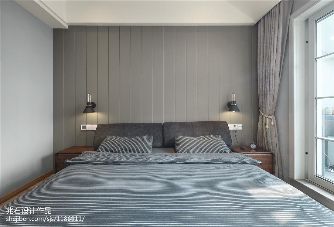 2018143平方四居卧室现代装饰图