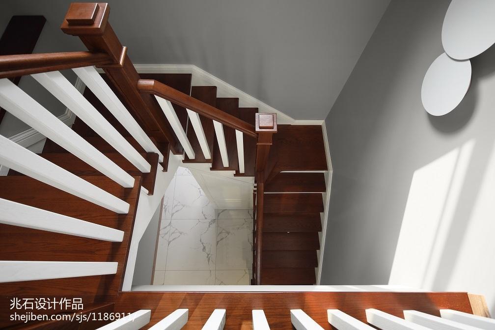 现代四居实木楼梯设计图