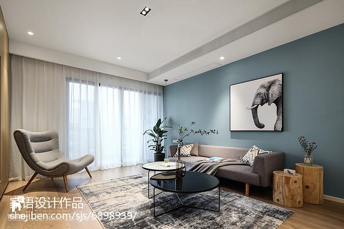 2018精选136平米北欧复式客厅装修设计效果图片欣赏