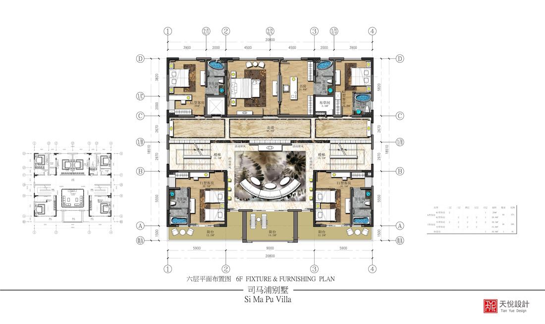 家居现代格调卧室效果图