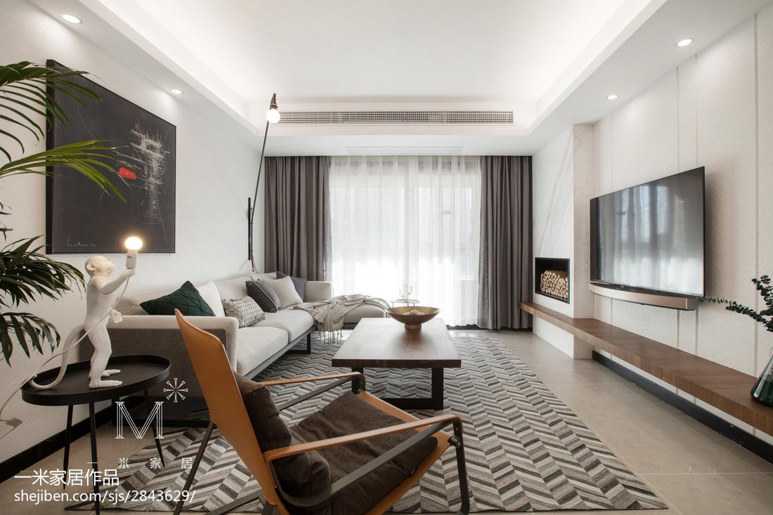 2018精选面积123平北欧四居客厅设计效果图