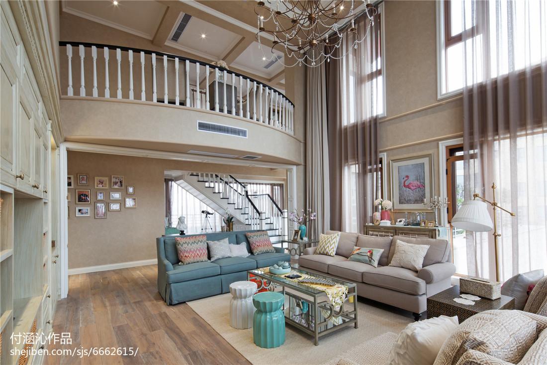 美式复式挑高客厅设计图