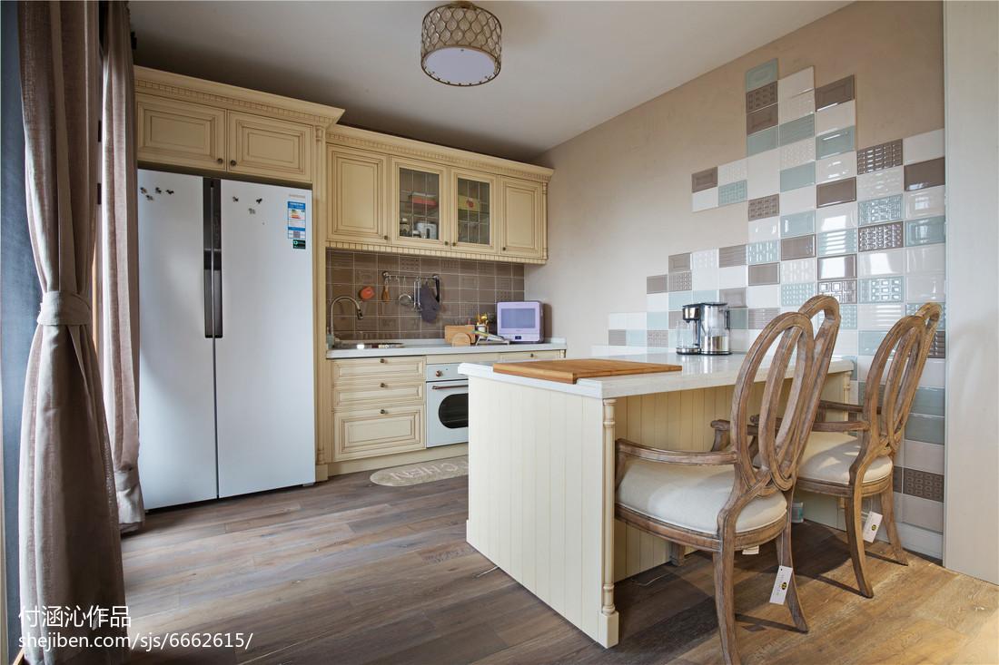 精美120平米美式复式厨房装修效果图片欣赏
