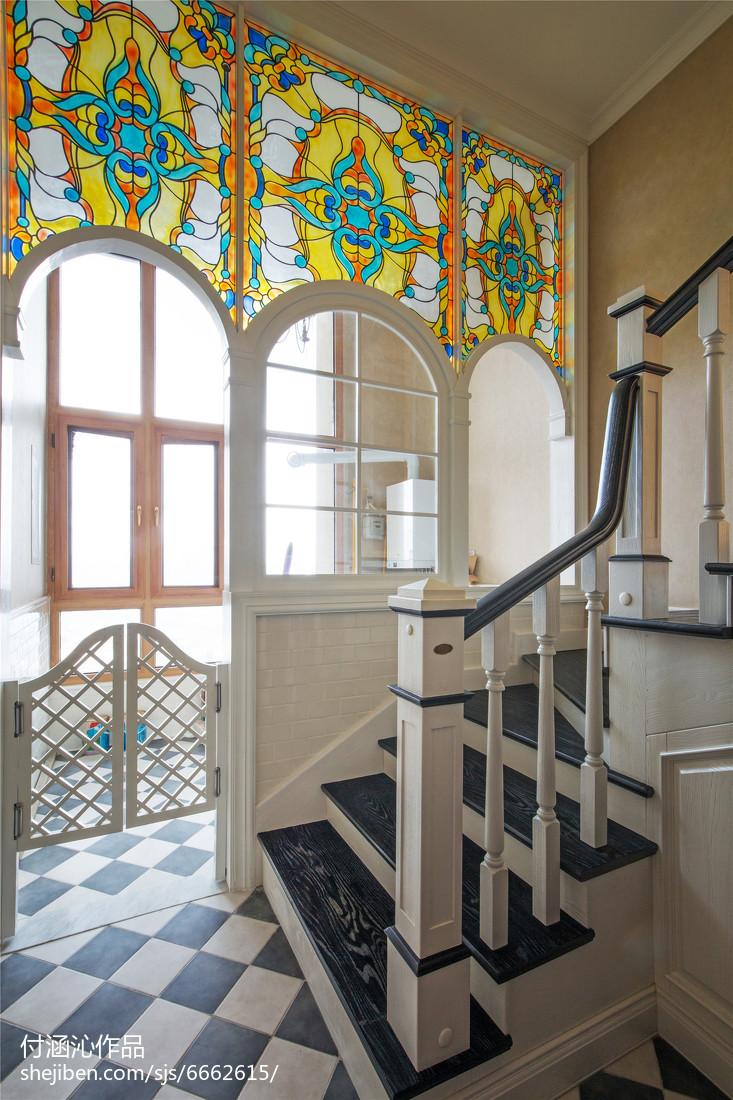 美式復式樓梯設計圖