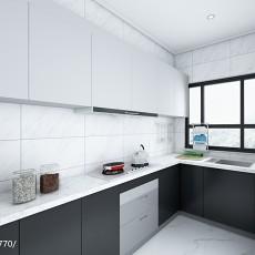 热门面积104平欧式三居厨房实景图片大全