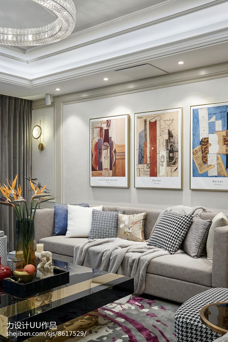 热门面积127平混搭四居客厅效果图片