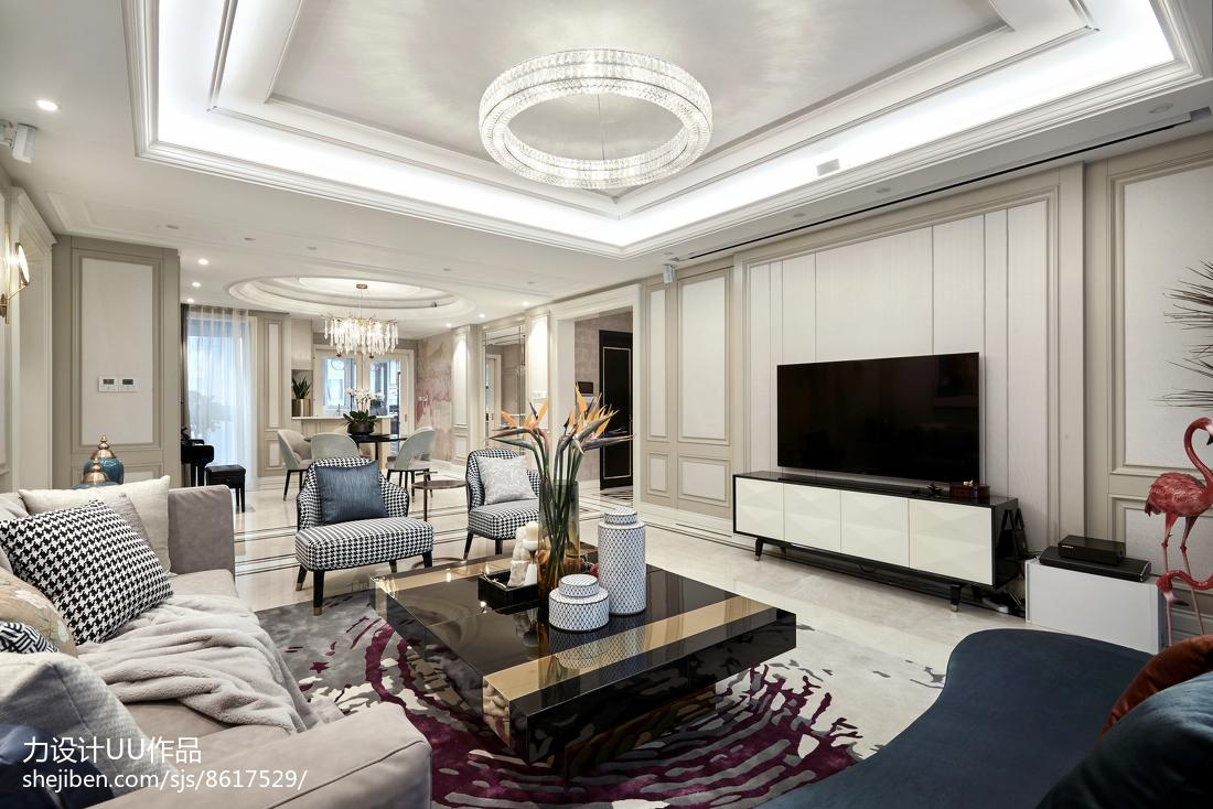 精美面积125平混搭四居客厅装修效果图
