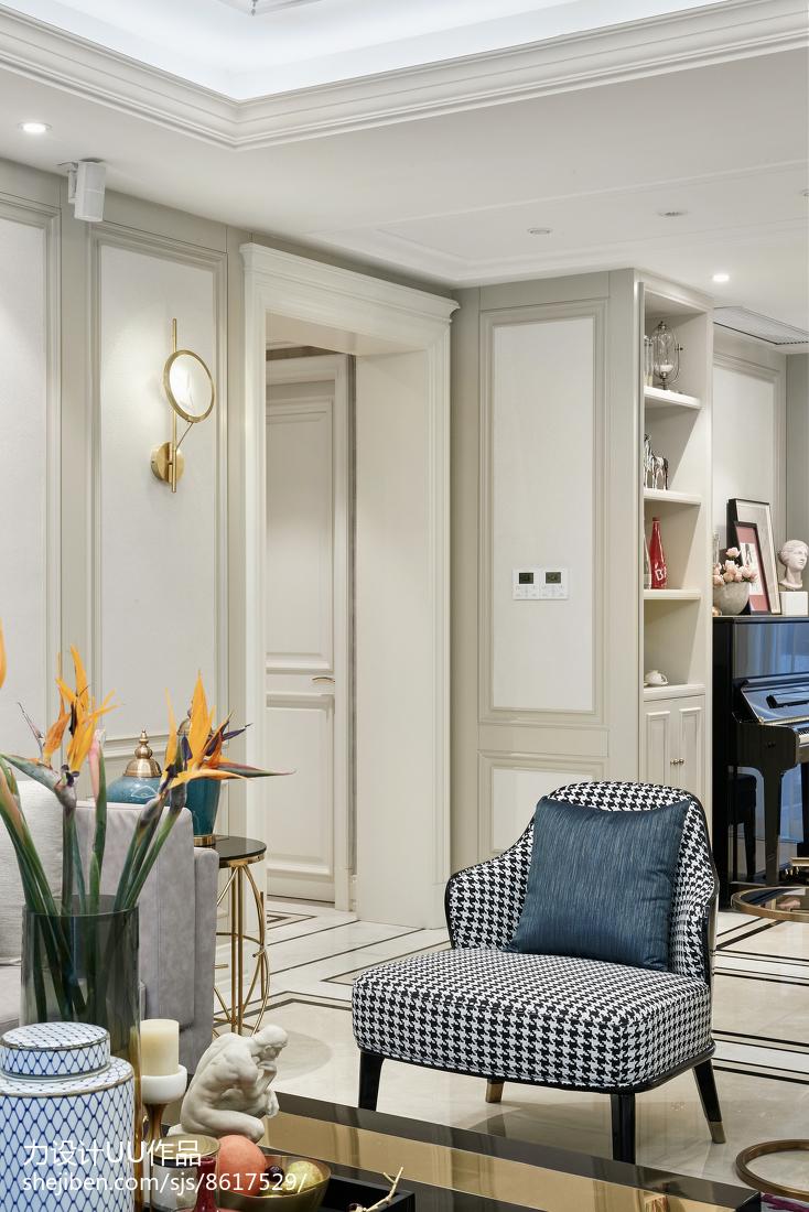 2018面积140平混搭四居客厅装修实景图片欣赏