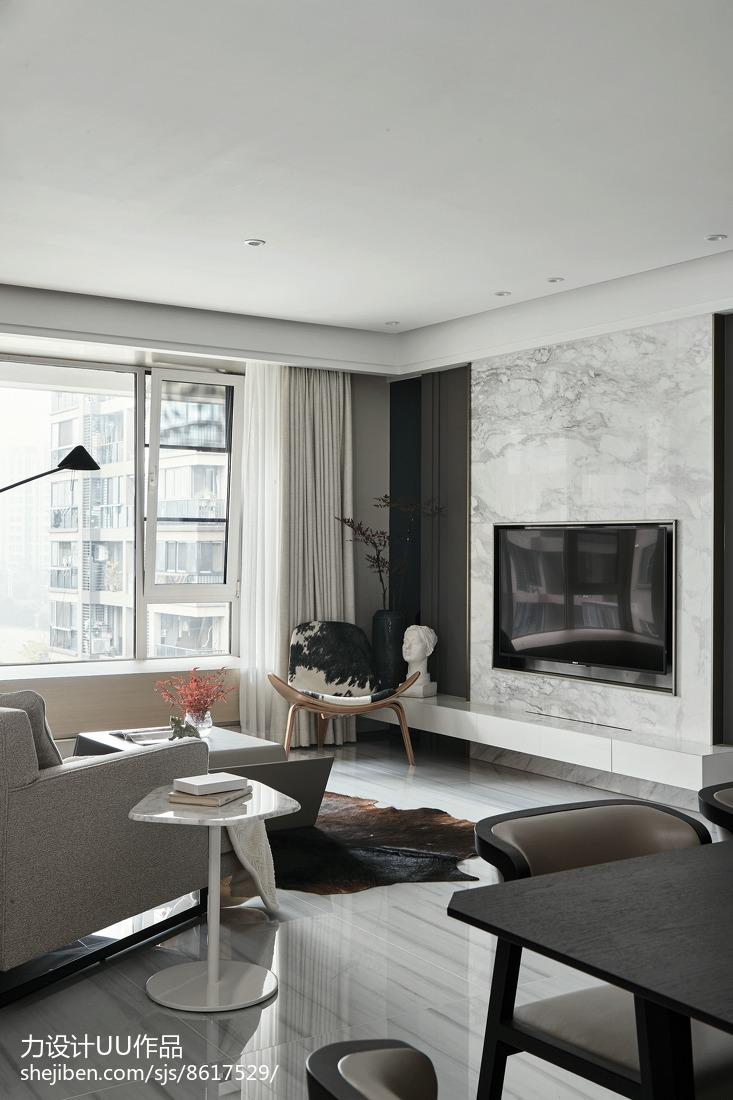 2018精选面积141平简约四居客厅效果图片