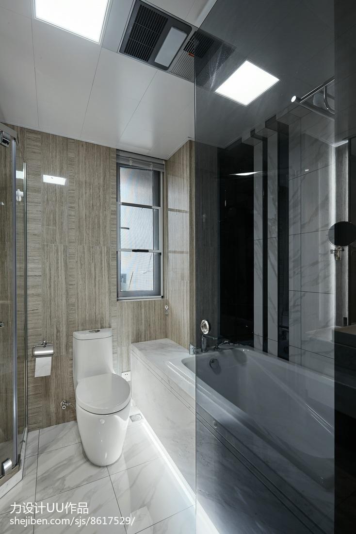 2018面积124平简约四居卫生间装修欣赏图