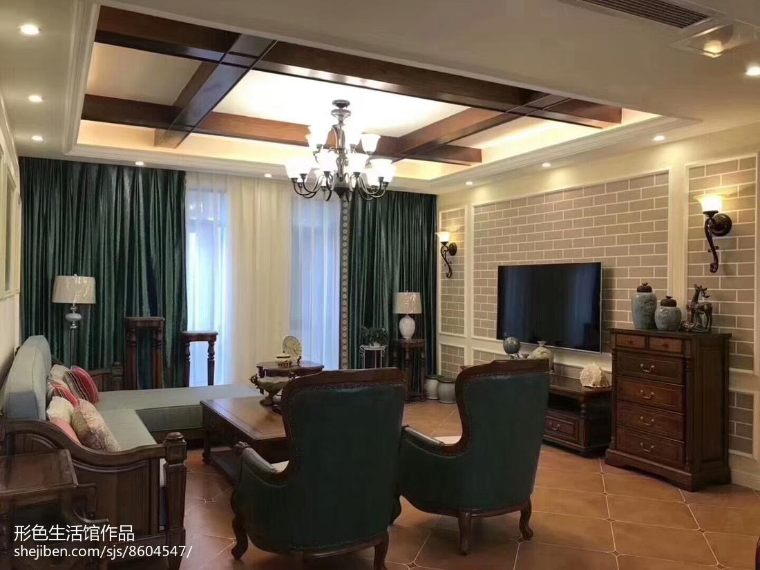 美式客厅背景墙