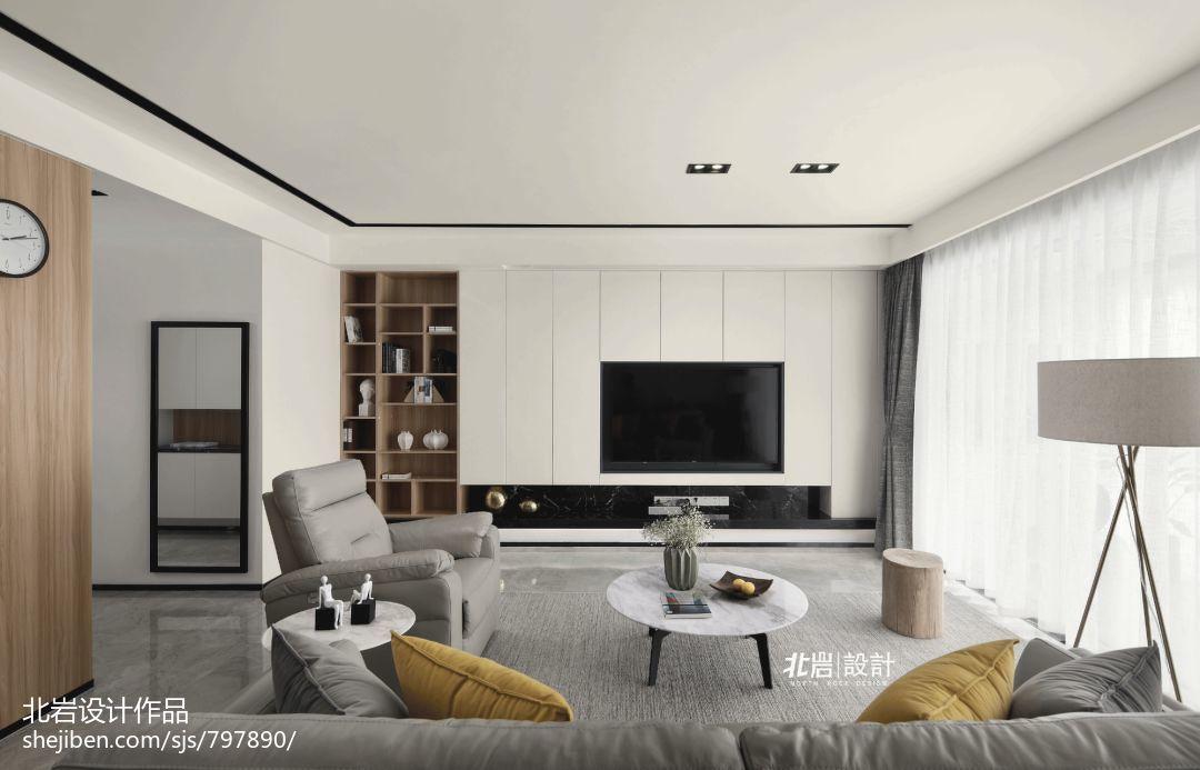 2018精选大小91平现代三居客厅装修设计效果图片欣赏