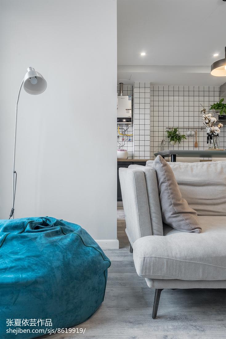 2018面积84平小户型休闲区北欧装修设计效果图片