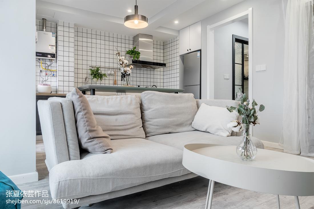 热门74平米北欧小户型客厅装饰图