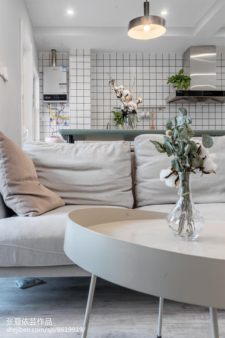 热门79平米北欧小户型客厅装修设计效果图