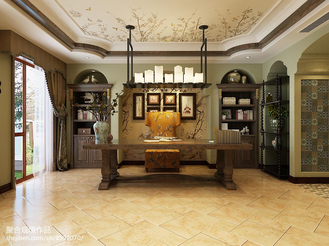 精美面积138平别墅客厅美式装修图片欣赏