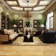 精选122平方美式别墅客厅装饰图片