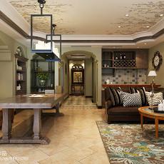 面积131平别墅客厅美式实景图