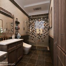精选121平米美式别墅卫生间装饰图