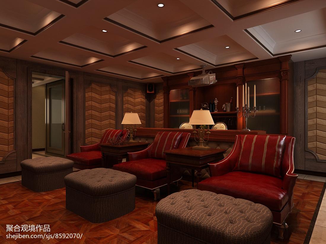 美式书房沙发
