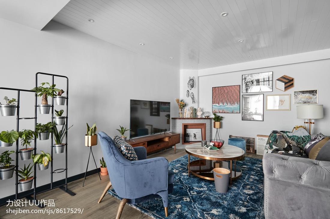 201899平米3室客厅混搭装饰图片大全