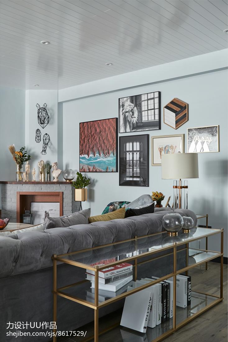 优雅105平混搭三居客厅装饰图片