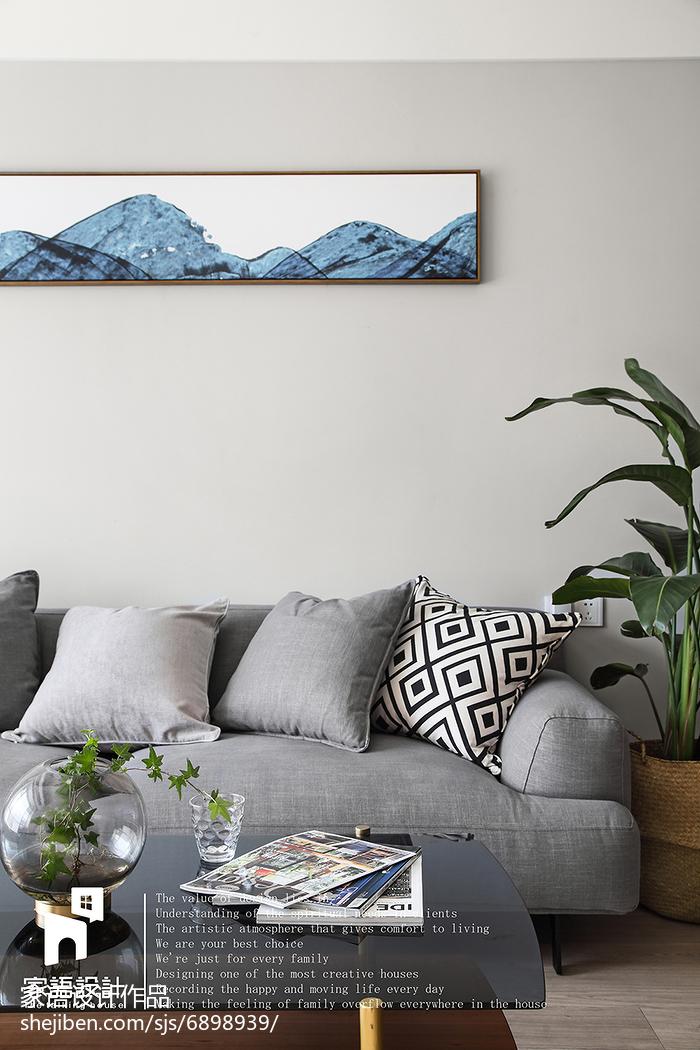 热门105平方三居客厅北欧实景图片欣赏