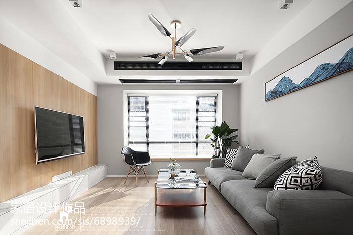 热门102平米三居客厅北欧装修设计效果图片大全