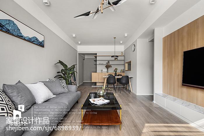 精选92平米三居客厅北欧装修实景图片大全