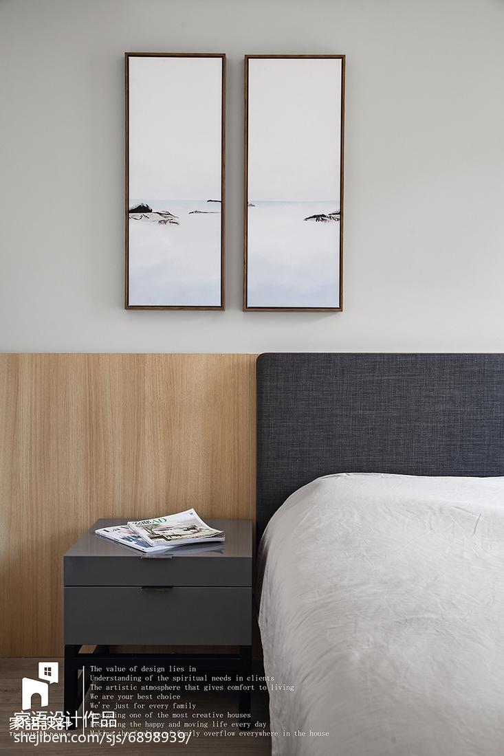精美104平米三居卧室北欧实景图片大全