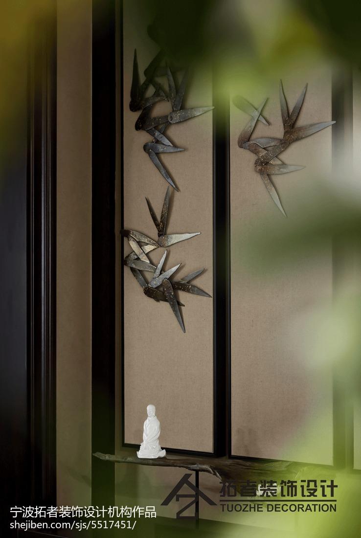 精选面积111平中式四居玄关装修欣赏图片