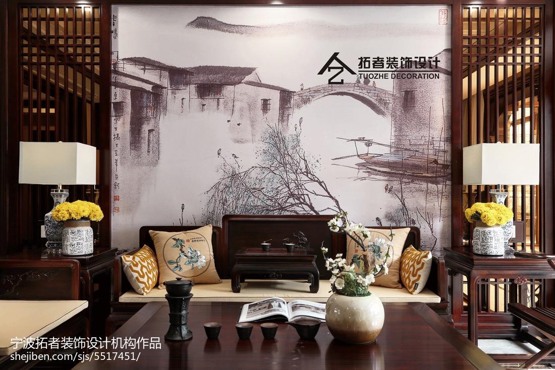 2018111平米四居客厅中式装修图片欣赏