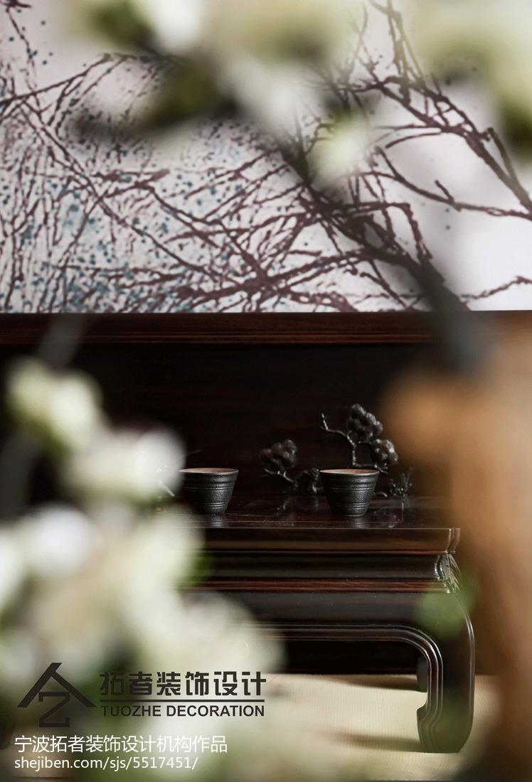 精美面积127平中式四居客厅装修设计效果图片欣赏